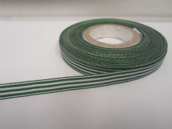 Forest Green pencil stripe ribbon 2 metres or full roll (25 metres) 5mm 10mm double sided